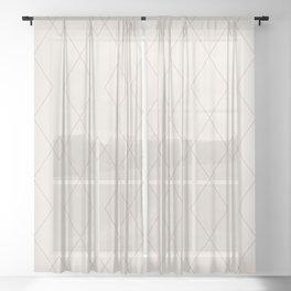 Moroccan Minimalist XI Sheer Curtain