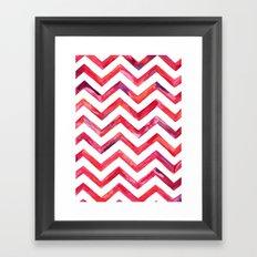 Chevronica Framed Art Print