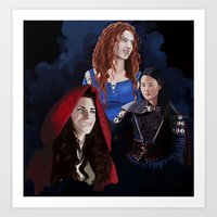 ouat Art Prints featuring Warrior Women of OUAT by Christine Ring