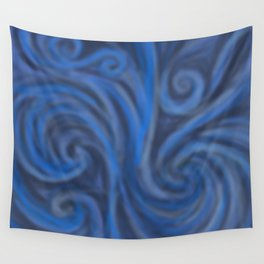 Blue Swirl Wall Tapestry