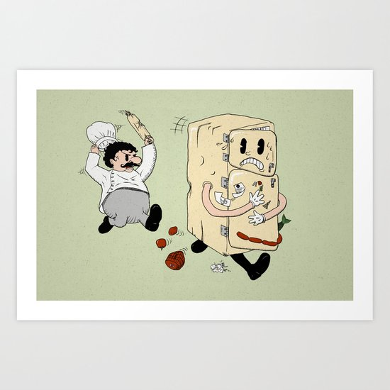 Your Fridge is Running Art Print