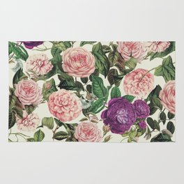 Light Floral Pattern Rug