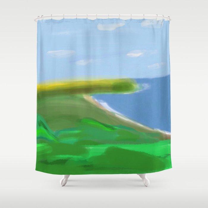God Bless And Keep Guam Safe Shower Curtain