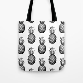 Black & White Pineapple Tote Bag