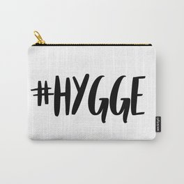 #hygge - scandi quote trend hashtag Carry-All Pouch