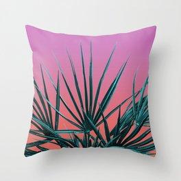Pink Palm Life - Miami Vaporwave Throw Pillow