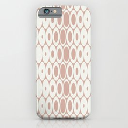 Retro Mid Century Modern Circles in Muted Colors Blush Pink iPhone Case