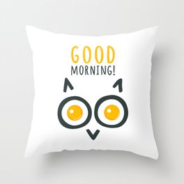 Morning owl Throw Pillow