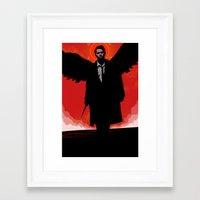 castiel Framed Art Prints featuring Castiel by Duke Dastardly