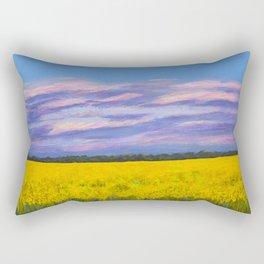 Canola Fields at Dusk Rectangular Pillow