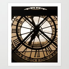 Parisian time Art Print