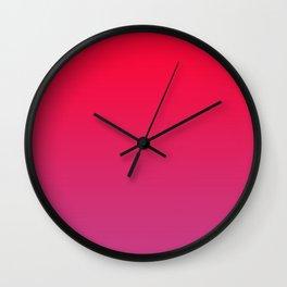 Cerise Pink Gradient Wall Clock