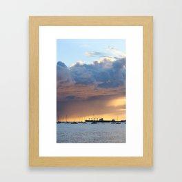 layers of sky at english bay Framed Art Print