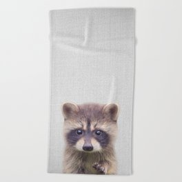 Raccoon - Colorful Beach Towel