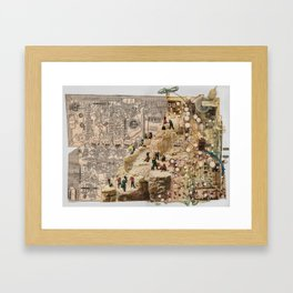 Circuitous Terrain Framed Art Print