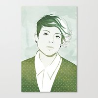 tegan and sara Canvas Prints featuring Tegan by GirlApe