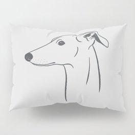 Italian Greyhound (Light Gray and Gray) Pillow Sham