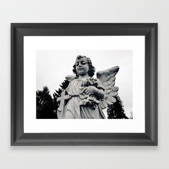 Child angel Framed Art Print