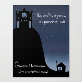 Satisfied Mind Canvas Print