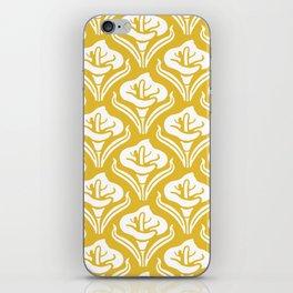 Calla Lily Pattern Mustard Yellow iPhone Skin