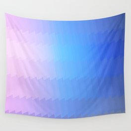 blue pink ombre color gradient abstract pattern Wall Tapestry