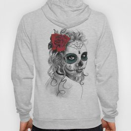 Catrina with red rose Hoody
