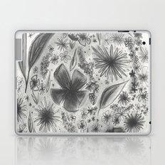 Floral Charcoal Sketch Laptop & iPad Skin