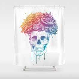 Color skull Shower Curtain