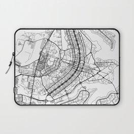 Brasilia Map White Laptop Sleeve
