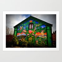 hippy Art Prints featuring house hippy by  Agostino Lo Coco