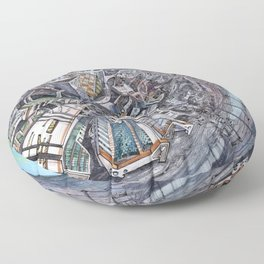 City of the planet Floor Pillow