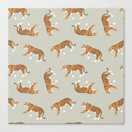 Tiger Trendy Flat Graphic Design Canvas Print