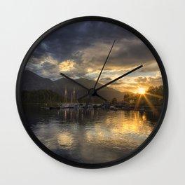 The Quiet Sunrise - Tofino BC Wall Clock