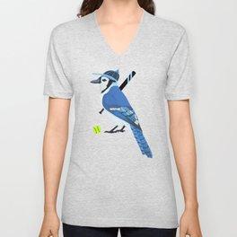 Softball Blue Jay Unisex V-Neck