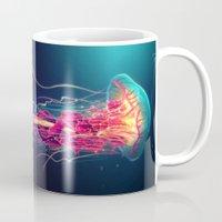 jellyfish Mugs featuring Jellyfish by Nikittysan