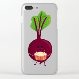 Beet's drum beat Clear iPhone Case