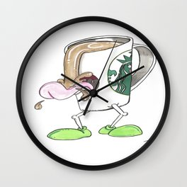 Caffeine Fiend Wall Clock