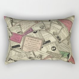 Antique Engraving of French Currency Rectangular Pillow