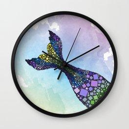 Mermaid Tail - Abstract Sea - Ocean Life Fantasy - 57 Montgomery Ave Wall Clock