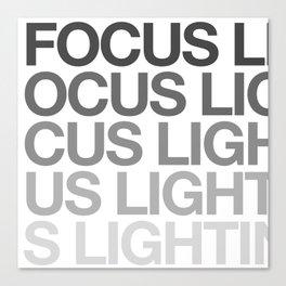 FOCUS LIGHTING Canvas Print