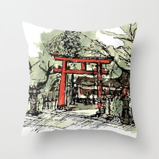 Yoshida Jinja Throw Pillow
