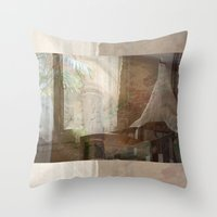 tote bag Throw Pillows featuring Barcelona Dreaming Tote Bag by Irina D. Stanciu