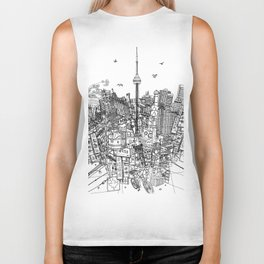 Toronto! (version #2) Biker Tank