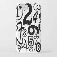 numbers iPhone & iPod Cases featuring Numbers by Sweet Colors Gallery