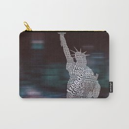 Typographic Statue of Liberty Carry-All Pouch