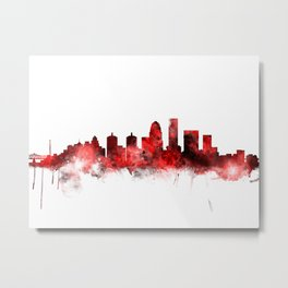Louisville Kentucky City Skyline Metal Print