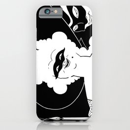 Carnival or Masquerade Ball black and white art iPhone Case