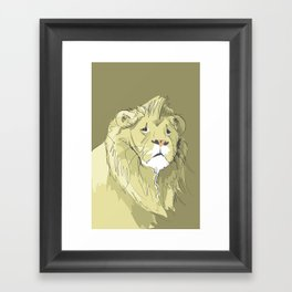 The Sad Lion Framed Art Print