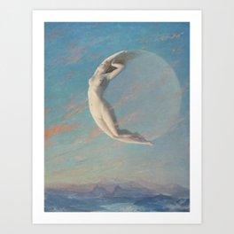 Albert Aublet - Selene Art Print