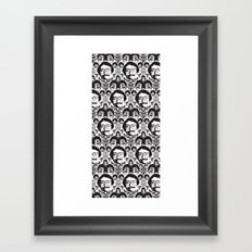 CREEPY DAMASK Framed Art Print
